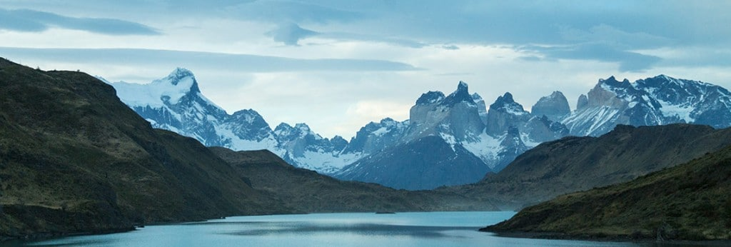 View of Torres Del Paine, Chile, discussing Mountain biking at high altitude