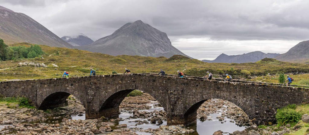 In pictures mountain biking Skye and Torridon, scotland. Riding Glen Sligachan bridge