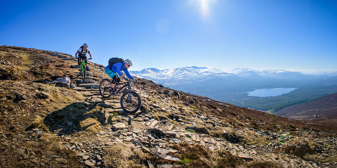 Mountain Biking Cairngorms, exploring the Cairngorm National Park one of our mountain bike tours worldwide