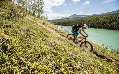 Join David Pharand on your mountain bike tour Yukon