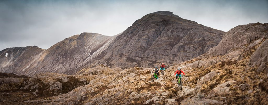 mountain biking Torridon, Scotland
