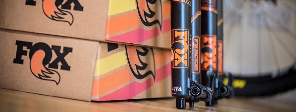 fox suspension being prepared to be fitted to Yeti SB5