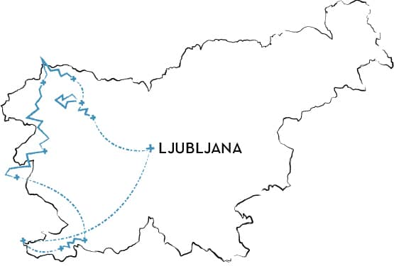 mountain bike tour Slovenia Route Map
