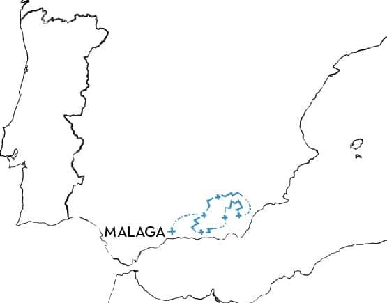 Mountain Bike Tour Spain Route Map