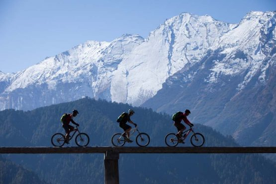 Riding the roof of the world on our mountain bike tour Nepal