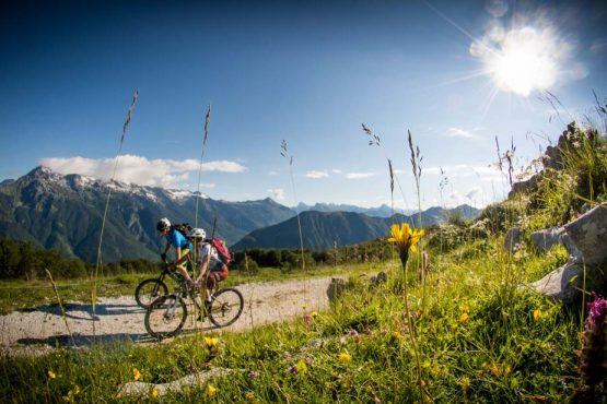 Mountain biking Julian Alps on our mountain bike tour Slovenia