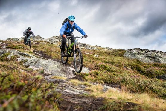 Steep alpine drops deliver you to the next pick-up point on our epic Fjords of Norway mountain bike tour