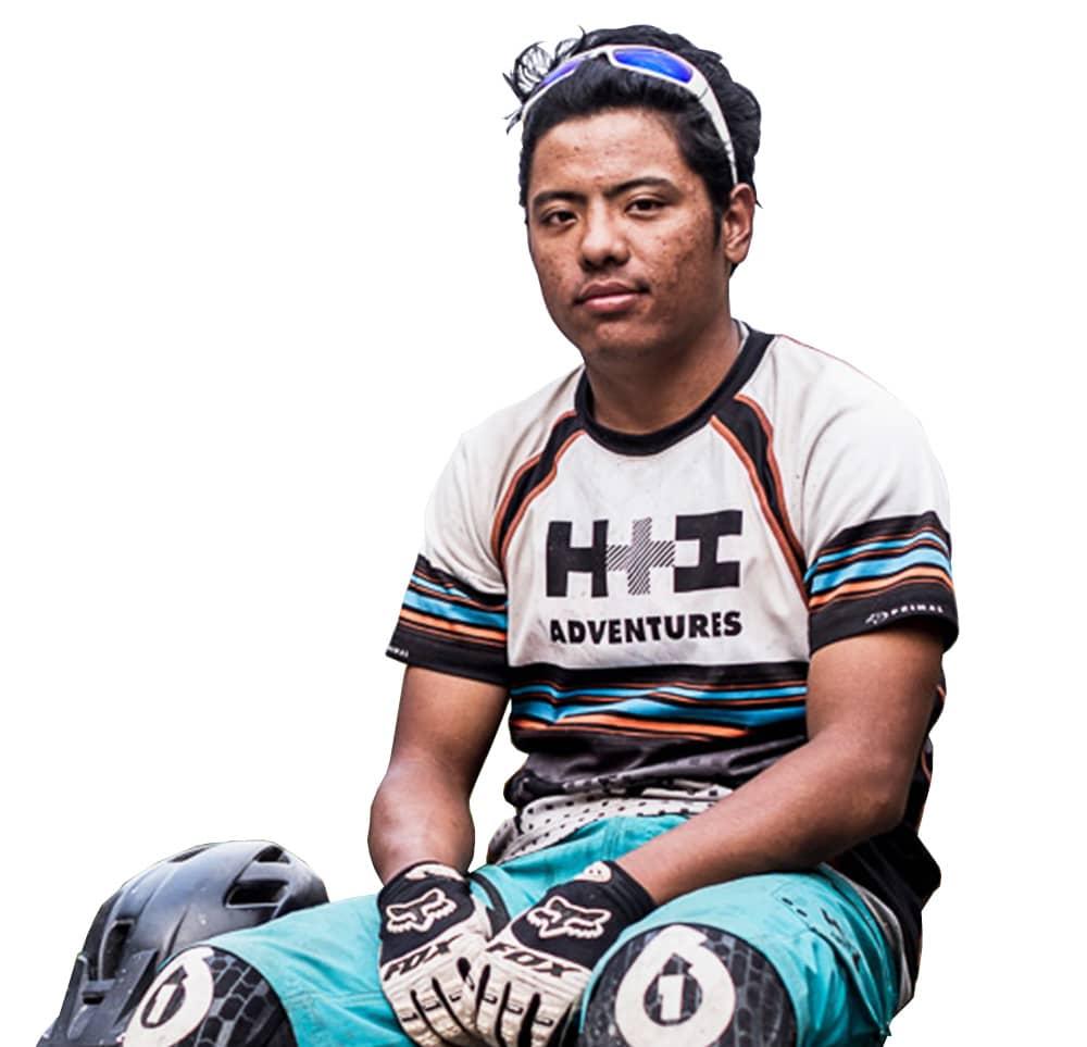 Meet RJ your mountain bike tour guide in Nepal