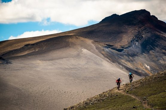 Hitting volcanic slopes on our mountain bike tour Chile