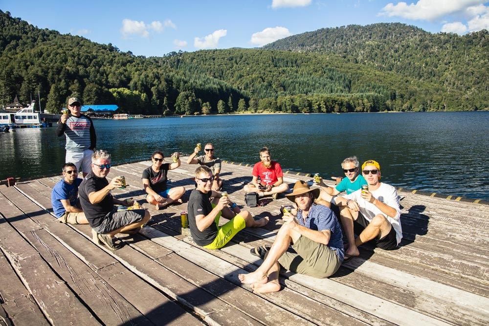Smiling riders on our (not) enduro mountain bike tours?