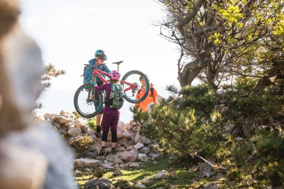 Three mountain bikers in Istria, mountain bike tour Croatia