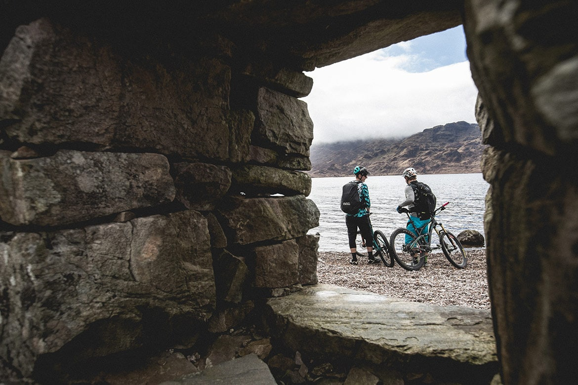 Bikers at Loch Morar, part of our photography tips.
