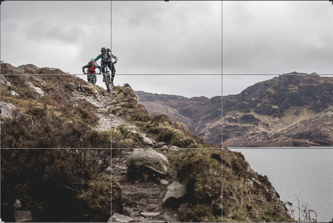 Grid overlay showing the rule of thirds, part of our photography tips tutorial.