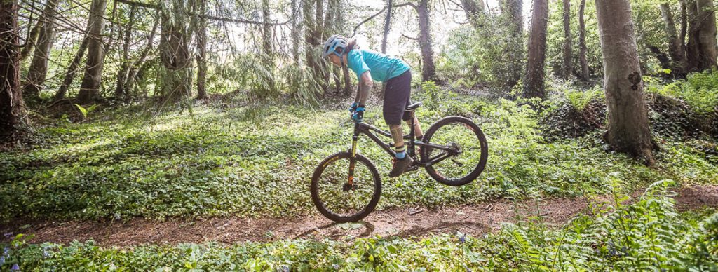 How To Lift Your Rear Wheel on a Mountain Bike.