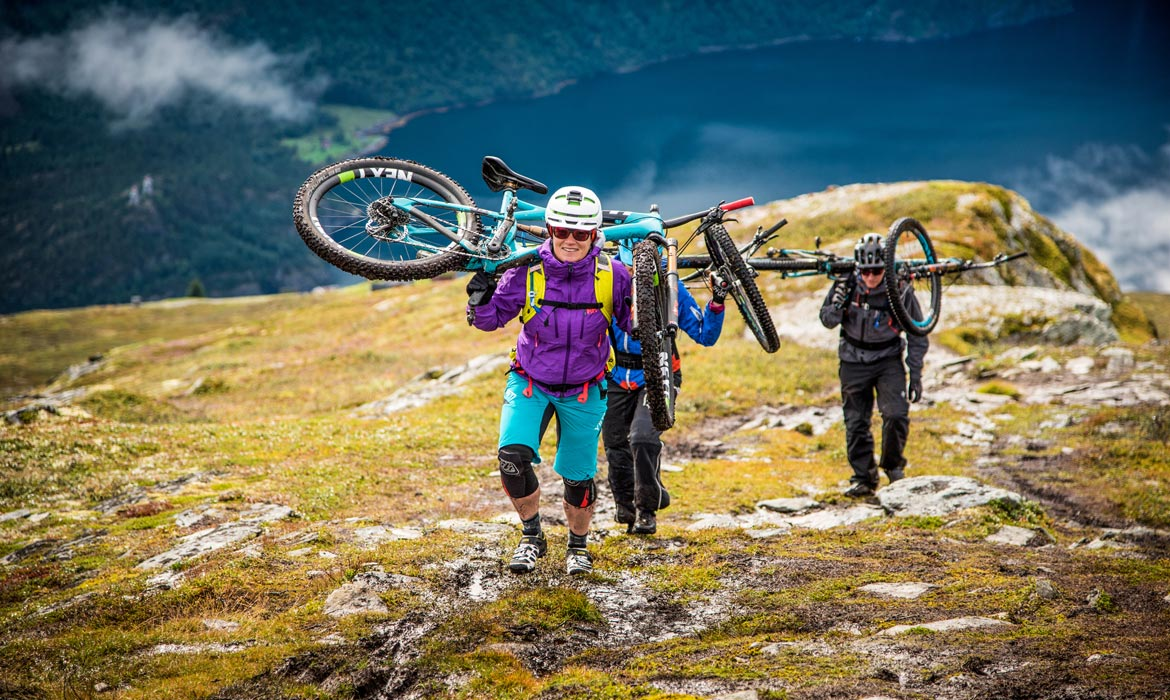 hike-a-bike high above the fjords