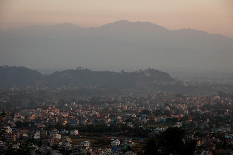 Essence of mountain biking in Nepal - Kathmandu sunset