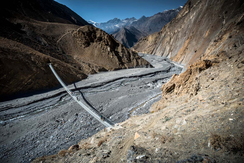 Essence of mountain biking in Nepal - suspension bridges