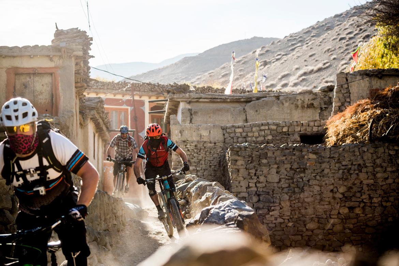 Essence of mountain biking in Nepal - Village riding
