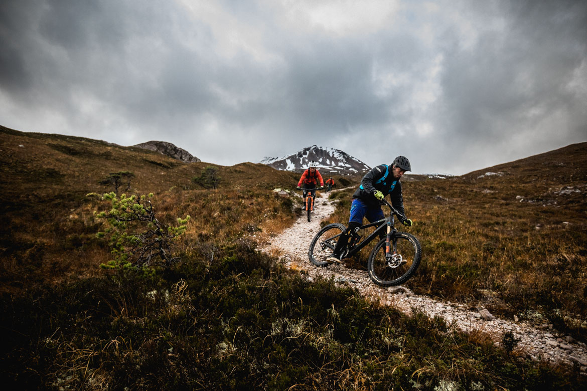 Greg Williamson drifting a flat turn in Scotland on a ride with Scott Laughland and H+I Adventures.