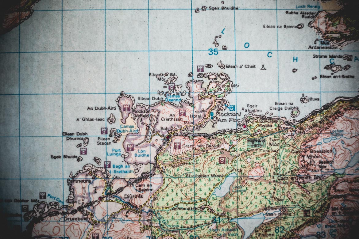 Alex Glasgow, Plockton map