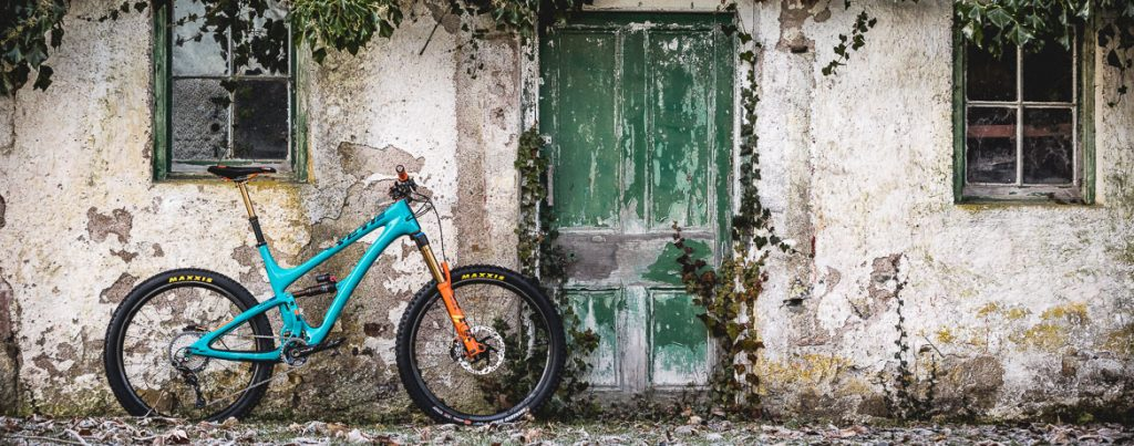 H+I Adventures guide's bikes, the Yeti SB5 LR Edition header image.