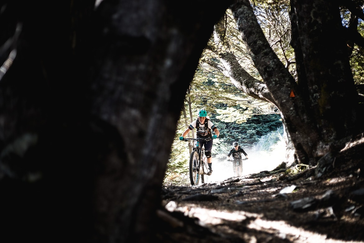 Riding the 'roots' trail in Queenstown.