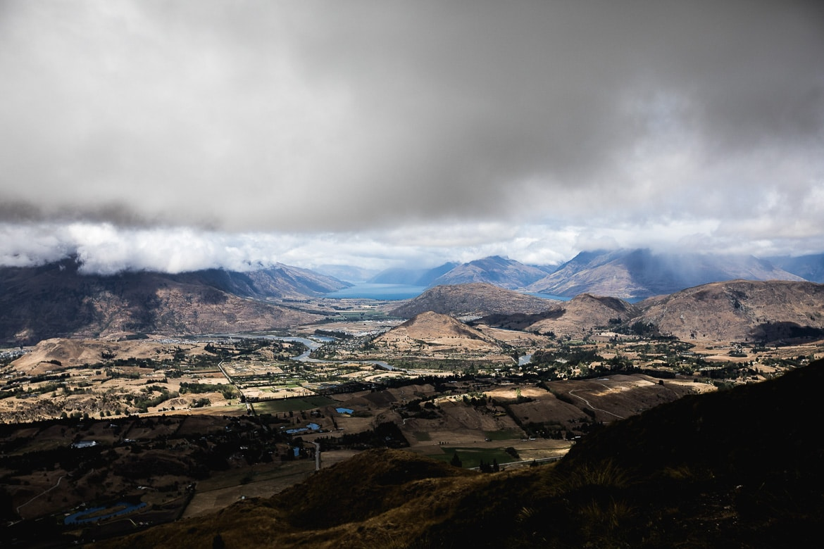 Moody view over Queenstown.