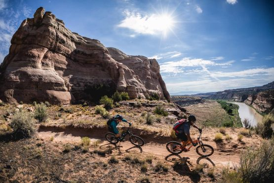 Riding Fruita during our Mountain Bike Tour Colorado.