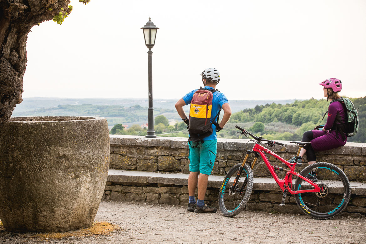 Overlooking the walls of Motovun, Croatian mtb scene. One of our highlights of 2018.