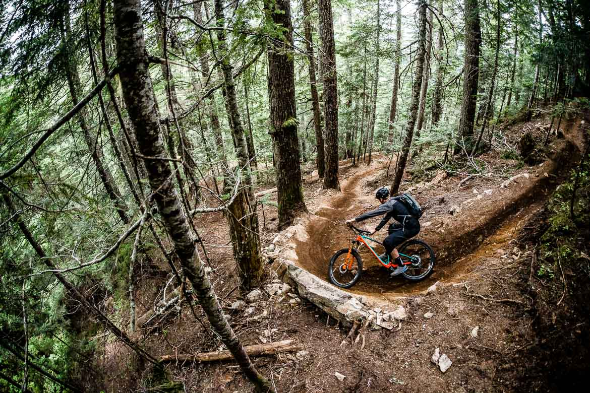 Our MTB tour in BC, Canada has some classic singletrack corners