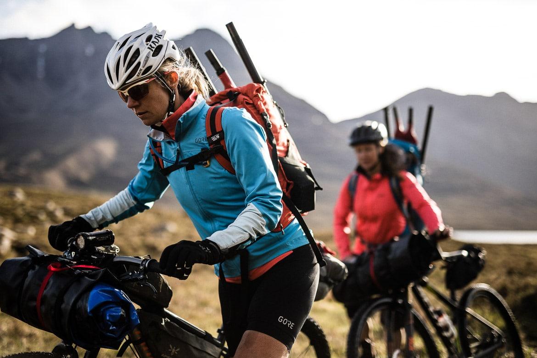 Ladies bikerafting in Scotland
