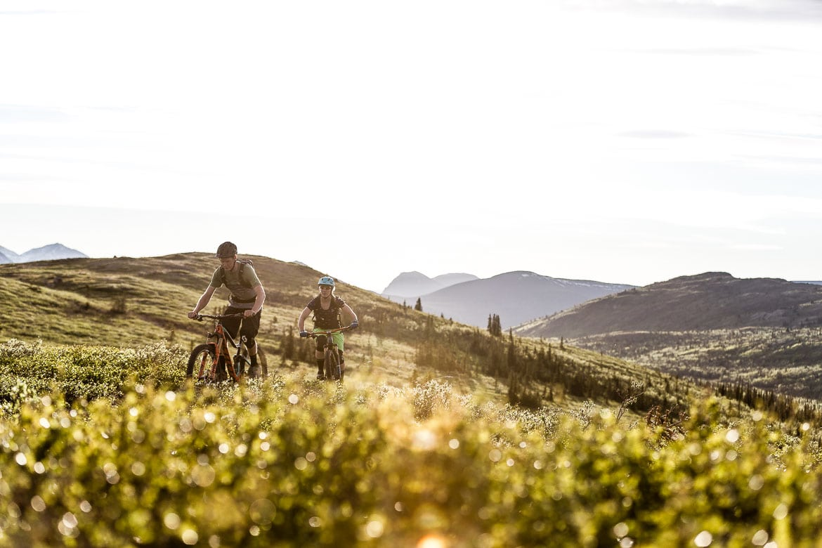 an MTB tour that lets you ride late into the night with endless light - must be the Yukon in Photos