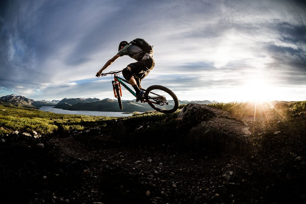another bay of mountain bike finishes with a sunset flourish in the Yukon in photos