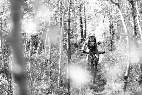 David Pharrand enjoying his job as mountain bike guide in the Yukon