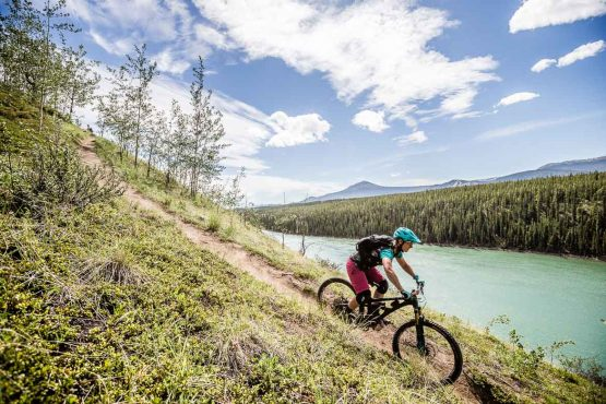 Sublime trails on our mountain bike tour Yukon