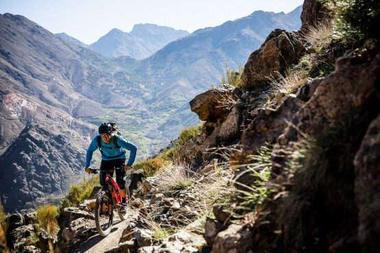 High mountain passes as part of the MTB vacation in the Atlas mountains, Morocco