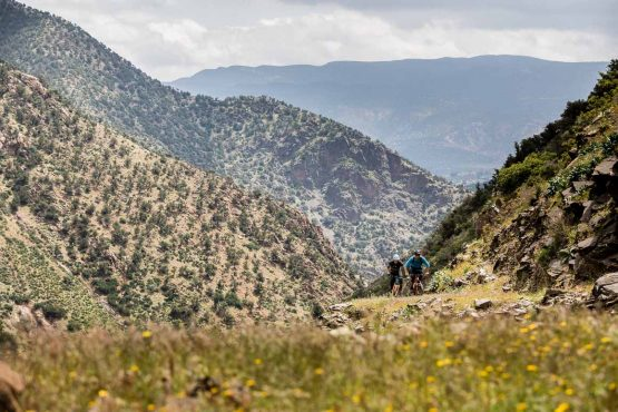 Punishing trail climbs on our Morocco guided MTB tour
