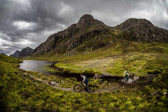 Wet feet on the coast-to-coast Scotland MTB tour