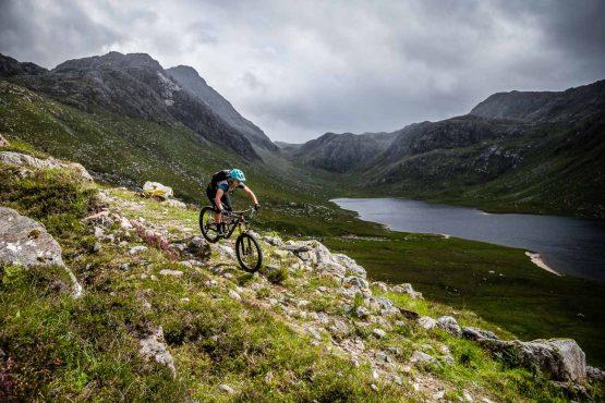 Technical trails on the coast-to-coast Scotland MTB tour, UK