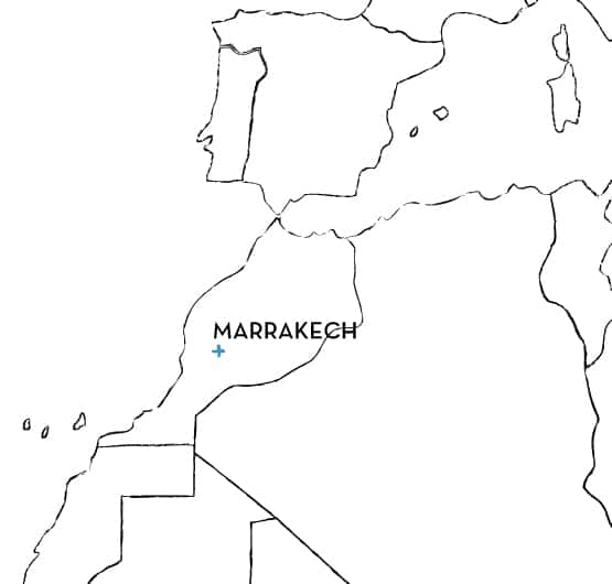 Morocco Route Map
