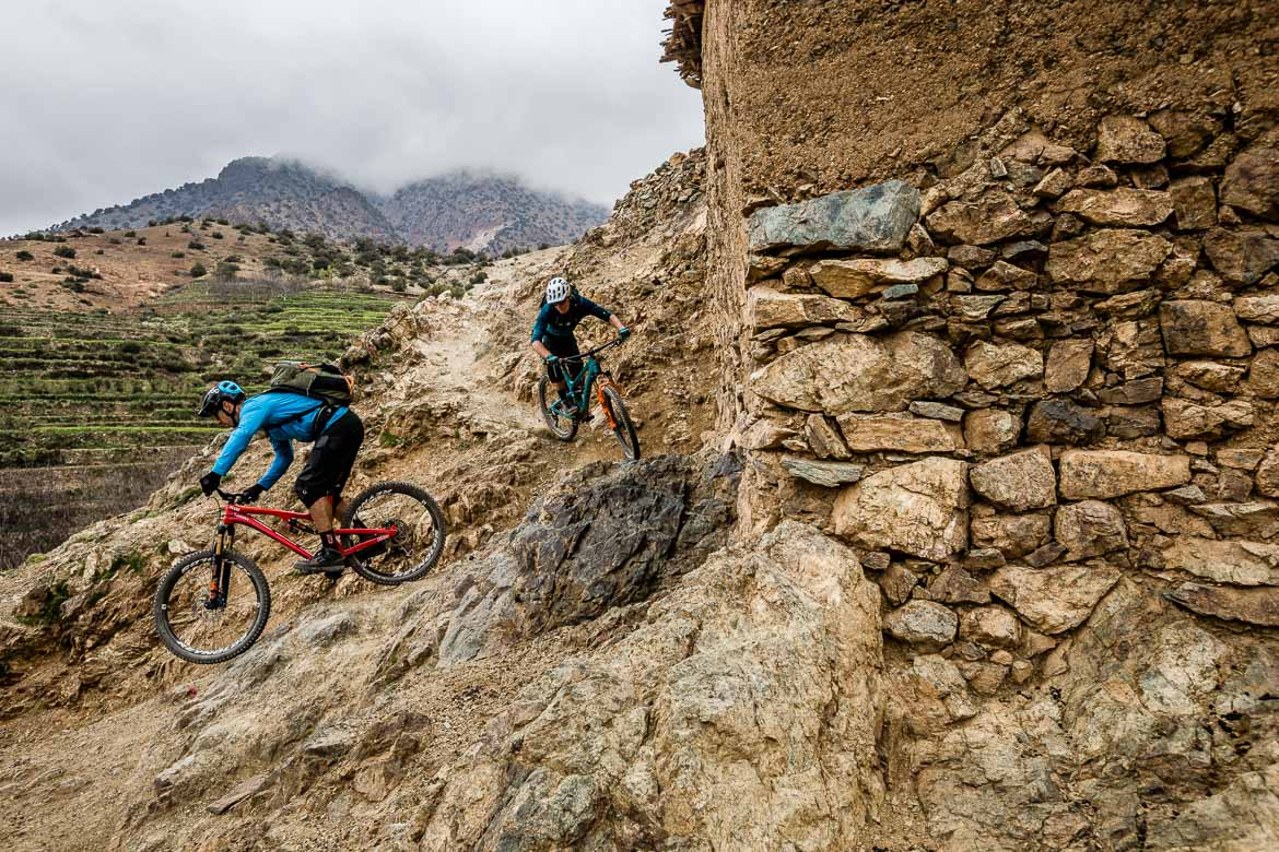 Mountain bike tour Morocco in photos - leaving the village
