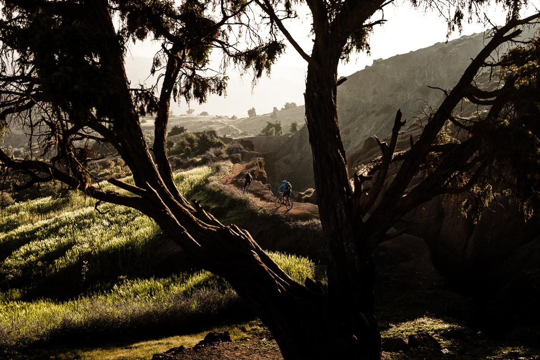 MTB tour Morocco in photos - dusk singletrack