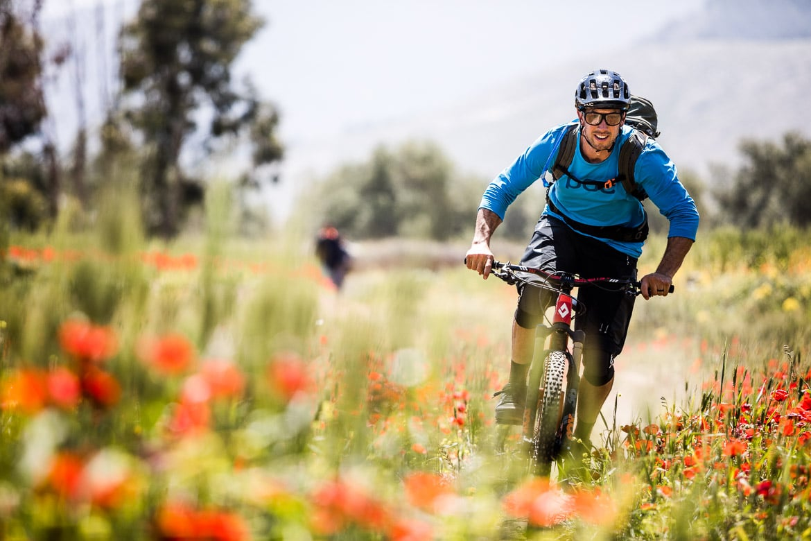 Mountain bike tour Morocco in photos - singletrack and poppy fields