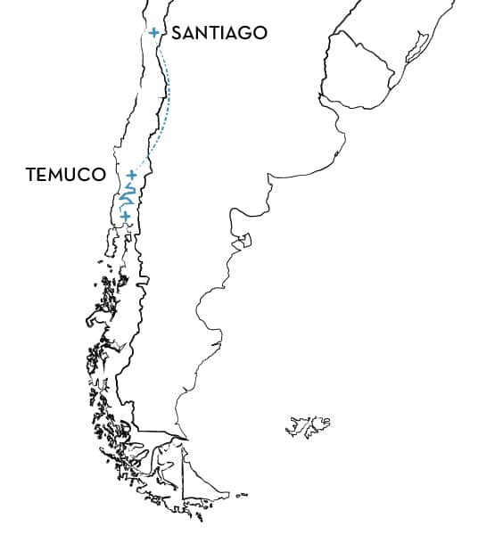 Mountain bike tour Chile Route Map