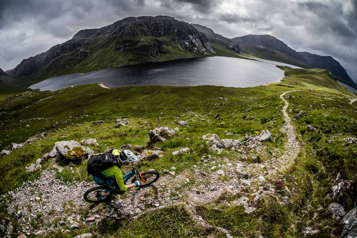 H+I Adventures guide Euan Wilson in the midst of our Scottish coast-to-coast tour as seen in our Top 10 mountain bike photos.