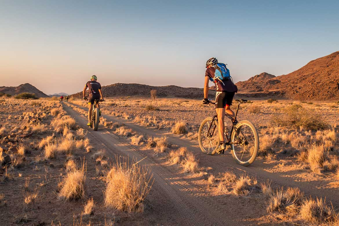 Mountain bikers in Namibia, mountain bike adventures Africa