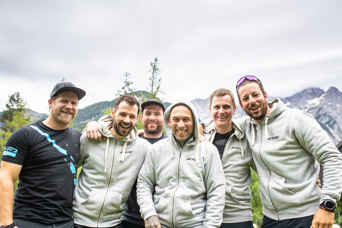 Group photo of the crew of the Shimano XTR launch Slovenia, part of our favourite memories of 2018. One of our highlights of 2018.