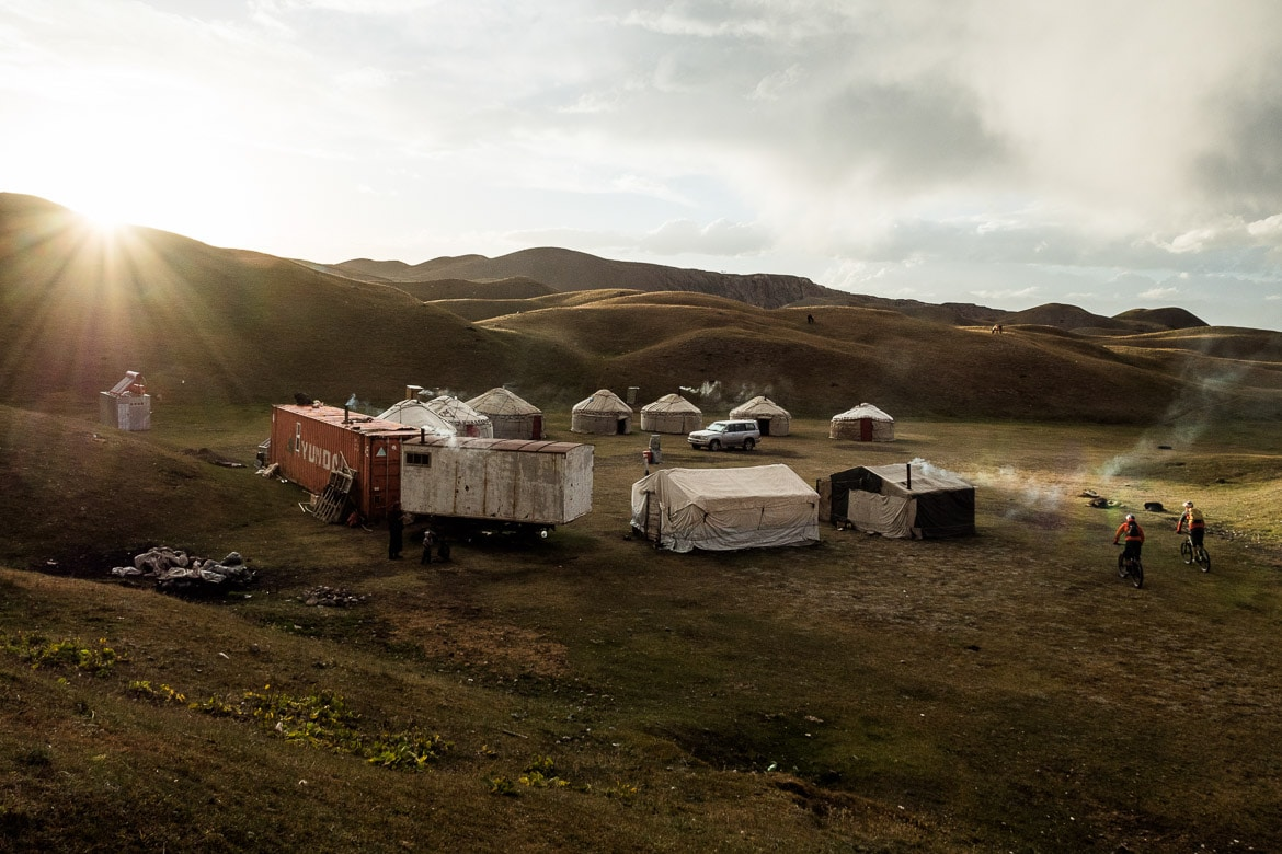 A camp whilst Mountain biking in Kyrgyzstan