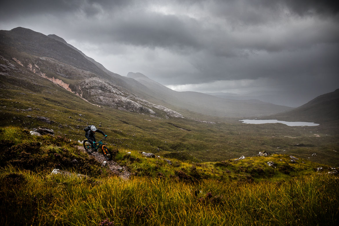 Riding in the rain during the Yeti Tribe Scotland.