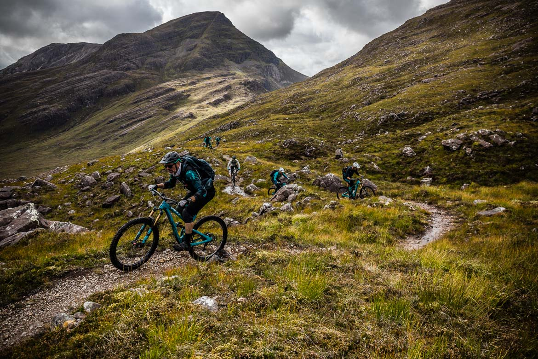 Paul Rowney riding during the Yeti Tribe Scotland.